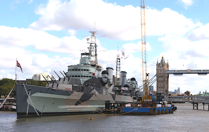 HMS Belfast  HMS Belfast is a listed museum ship, permanently moored in London on the River Thames and operated by the Imperial War Museum. The museum is one of the capital's key tourist attractions with over 250,000 visitors each year.
